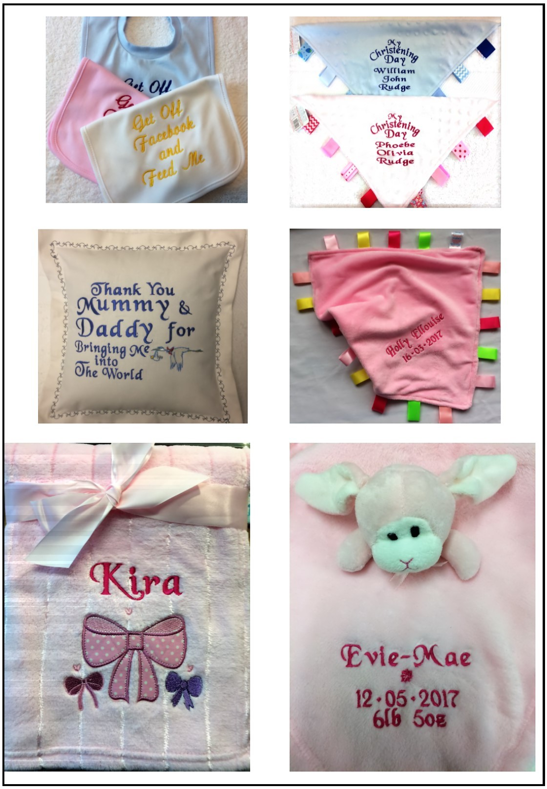 Embroidery - Kidz Baby Shop